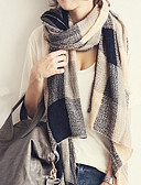 cheap Fashion Scarves-Women's Sweater Rectangle - Solid Colored