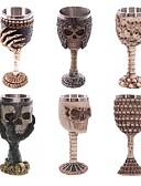 billige Herrejakker og -frakker-rustfrit stål gothic goblet parti kreative drikker glas 3d kraniet skelet punk stil vinglas whisky kopper
