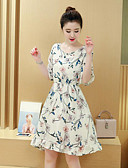 cheap Women's Dresses-Women's Going out Slim Chiffon Dress - Floral Print