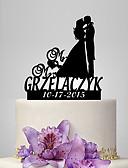 hesapli Gelinlikler-Pasta Üstü Figürler Klasik Tema / Romantizm / Düğün Klasik Çift Plastik Düğün / Yıldönümü ile 1 pcs Poli Çanta