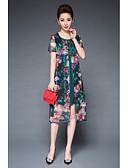 baratos Vestidos Femininos-Mulheres Vintage Sofisticado Moda de Rua Bainha balanço Vestido Bordado Assimétrico