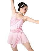 olcso Tánc öltözet gyerekeknek-Balettcipők Ruhák Női Edzés Spandex / Flitteres Flitter / Fodrozott Ujjatlan Természetes / Teljesítmény / Bálterem