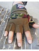 رخيصةأون قفازات-نصف اصبع قفازات طول المعصم سادة قطن, نقع معطلة الرياضات الخارج للرجال