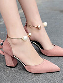 cheap Prom Dresses-Women's Leather / PU(Polyurethane) Summer Basic Pump Heels Pearl Beige / Pink / Burgundy