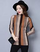 cheap Women's Sweaters-Women's Long Sleeve Cotton Pullover - Striped Crew Neck / Fall / Winter