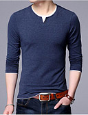 cheap Men's Tees & Tank Tops-Men's Wool Pullover - Solid Striped Round Neck