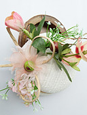 cheap Party Headpieces-Tulle / Chiffon / Lace Fascinators / Hats with 1 Wedding / Special Occasion / Birthday Headpiece