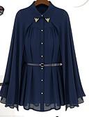 olcso Női pulóverek-Állógallér Női Cloak / Capes - Egyszínű / Tavasz