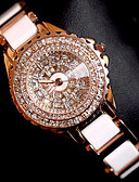 cheap Quartz Watches-Women's Bracelet Watch / Wrist Watch Chinese Creative Stainless Steel Band Charm / Luxury / Sparkle Rose Gold