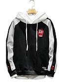 cheap Men's Hoodies & Sweatshirts-Men's Plus Size Sports Long Sleeves Hoodie Print Hooded