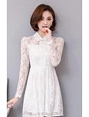 cheap Women's Dresses-Women's A Line Dress - Solid Colored Shirt Collar