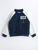 preiswerte Mode für Mädchen-Jungen Einfarbig Langarm Jacke & Mantel