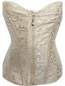 billige Korsetter & Bustiers-kvinders lynlås overbust korset-solid, print