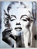 baratos Abrigos e Moletons Masculinos-Estampados de Lonas Esticada Abstracto, 1 Painel Tela de pintura Vertical Estampado Decoração de Parede Decoração para casa
