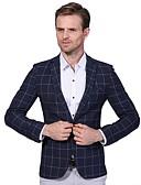 preiswerte Herren Pullover-Herrn - Verziert Übergrössen Blazer, Gekerbtes Revers Baumwolle
