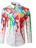 cheap Men's Shirts-Men's Cotton Slim Shirt - Rainbow