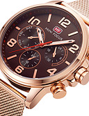 cheap Sport Watches-Men's Sport Watch / Wrist Watch Creative / Hot Sale / Cool Stainless Steel Band Charm / Luxury / Casual Black / Rose Gold / Two Years / Maxell SR626SW