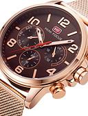 ieftine Oțel Inoxidabil-Bărbați Ceas Sport Ceas de Mână Quartz 30 m Creative cald Vânzare Cool Oțel inoxidabil Bandă Analog Charm Lux Casual Negru / Roz auriu - Negru Roz auriu Doi ani Durată de Viaţă Baterie