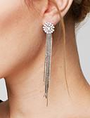 cheap Fashion Belts-Women's Tassel / Long Drop Earrings / Earrings - Imitation Diamond Galaxy Luxury, Tassel, Fashion Silver For Daily / Casual