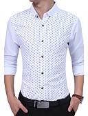 baratos Camisas Masculinas-Homens Camisa Social Estampado Algodão