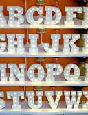 olcso Férfi pólók és pulóverek-1db 26 betű ábécé vezetett éjszakai fényű akkumulátoros kreatív / esküvői / dekoráció