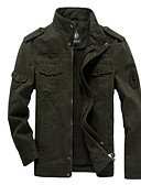 cheap Men's Jackets & Coats-Men's Basic Jacket - Solid Colored Stand