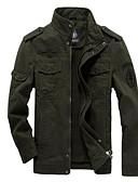 olcso Férfi dzsekik és kabátok-Alap Állógallér Férfi Dzsekik - Egyszínű
