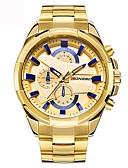 baratos Relógio Esportivo-Homens Relógio de Pulso Japanês Impermeável / Criativo / Legal Aço Inoxidável Banda Amuleto / Luxo / Vintage Preta / Prata / Dourada / Mostrador Grande