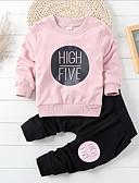baratos Suéteres & Cardigans Masculinos-Para Meninos Conjunto Sólido Outro Primavera Algodão Azul Rosa