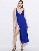 preiswerte Damen Kleider-Damen Klub Hülle Kleid - Gespleisst, Solide Gurt Blau