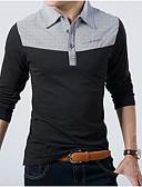 olcso Férfi pólók-Állógallér Férfi Pamut Polo - Színes