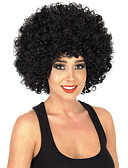 cheap Quartz Watches-Synthetic Wig Curly Black Synthetic Hair African American Wig Black Wig Medium Length Capless Dark Black