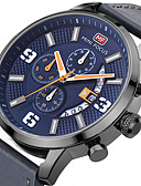 cheap Steel Band Watches-Men's Sport Watch Wrist Watch Quartz 30 m Calendar / date / day Creative Cool Genuine Leather Band Analog Charm Luxury Casual Black / Blue / Grey - Black Gray Blue One Year Battery Life / SSUO LR626