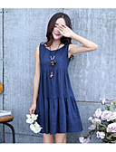 cheap Women's Dresses-Women's Loose Loose Dress - Solid Colored
