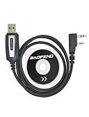 abordables Abrigo y Gabardinas de Mujer-Profesional cable de programación usb con cd baofeng uv-5r uv-5a uv-b5 uv-82 bf-888s bf-666s para radio portátil