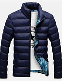 cheap Men's Downs & Parkas-Men's Cotton Padded - Solid Colored