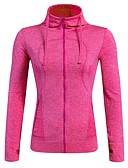 cheap Men's Polos-Women's Running Jacket - Fuchsia, Sky Blue, Light Green Sports Spandex Jacket / Hoodie / Top Yoga, Fitness, Gym Long Sleeve Activewear Quick Dry, Breathable, Stretchy Stretchy