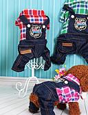 זול שמלות נשים-כלב סרבלים בגדים לכלבים בריטי פוקסיה / אדום / ירוק למטה / ג'ינס תחפושות עבור חיות מחמד יום יומי\קז'ואל