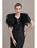 cheap Men's Ties & Bow Ties-Feather / Fur Wedding / Party / Evening Women's Wrap With Capelets