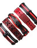 cheap Men's Shirts-Men's / Women's Wrap Bracelet / Leather Bracelet - Leather Bohemian Bracelet Red For Gift / Going out