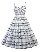 cheap Women's Dresses-Women's Vintage Sheath Dress Print High Rise Strap