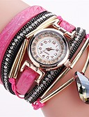 cheap Quartz Watches-Women's Bracelet Watch Chinese Water Resistant / Water Proof PU Band Sparkle / Casual / Fashion Black / White / Blue / Stainless Steel
