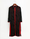 olcso Női nadrágok és szoknyák-Női Kínai Hüvely Ruha Egyszínű Midi Piros / Extra méret
