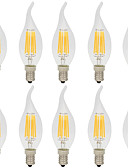 cheap Men's Tees & Tank Tops-10pcs 6W 560lm E14 LED Filament Bulbs C35L 6 LED Beads COB Decorative Warm White / Cold White 220-240V / 10 pcs / RoHS