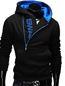 cheap Men's Shirts-Men's Active Long Sleeve Hoodie - Color Block Hooded