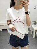 저렴한 티셔츠-여성용 프린트 - 티셔츠 면
