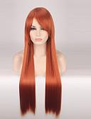 abordables Sombreros de mujer-Pelucas sintéticas / Pelucas de Broma Mujer Recto Rojo Pelo sintético Rojo Peluca Larga Sin Tapa Naranja