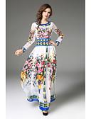 povoljno Ženske haljine-Žene Swing kroj Haljina Cvjetni print Maxi