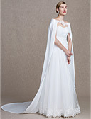 cheap Wedding Wraps-Chiffon Wedding / Party / Evening Women's Wrap With Capes