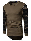 cheap Men's Tees & Tank Tops-Men's Sports Active Slim T-shirt - Camouflage Round Neck